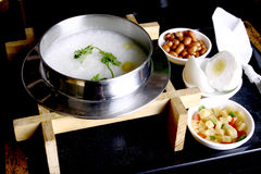 China delicious food�gruel and side dish Stock Images