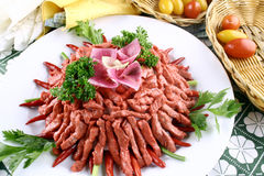 China delicious food-chili beef strip Stock Images