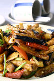 China delicious food--chili eggplant Stock Image