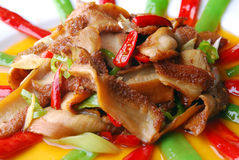 China delicious food--chili fried pig stomach Royalty Free Stock Photo