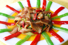 China delicious food-chili fried pig stomach Stock Images