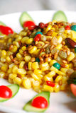 China delicious food-- corn and pine nuts stock photos