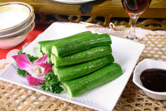 China delicious food--cucumber royalty free stock photos