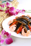 China delicious food-- delicious eel and shrimp Stock Photos