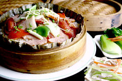 China delicious food-- meat fried rice Royalty Free Stock Photo