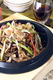 China delicious food--mushroom cook chicken royalty free stock image