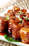 China delicious food--pig intestine Stock Image