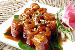 China delicious food--pig intestine stock photo