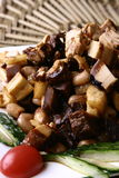 China delicious food--pork and peanut and root Stock Images