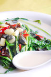 China delicious food-- preserved egg and spinach s royalty free stock photo