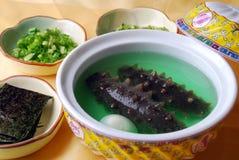 China delicious food-sea slug and egg Stock Images