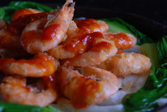 China delicious food--shrimp Royalty Free Stock Images