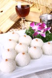 China delicious food--wrap bean paste in glutinous Royalty Free Stock Photos