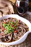 China delicious food—buckwheat noodles Stock Photos