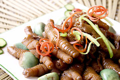 China delicious food—chicken feet and garlic Royalty Free Stock Images