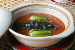 China delicious food—sea slug and vegetable Stock Photos