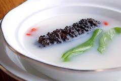 China delicious food—sea slug and wolf berry Royalty Free Stock Photo