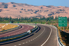 China Desert  Highway Stock Images