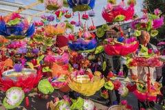 China die naast qinhuai 31 de jaarlijkse scène van het Lantaarnfestival nanjing Royalty-vrije Stock Fotografie