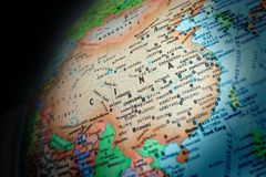 China - die neue Wirtschaftsmacht und der Markt Stockbild