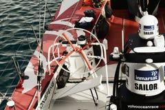 China ` die s slechts boot` Volvo Oceaan 65 Dongfeng ` in Cape Town varen Stock Fotografie