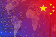 China in a digitized global economy Stock Photo
