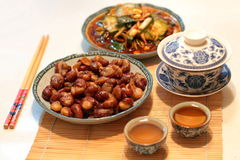 China dish. China peoples daily diet Chinese food Royalty Free Stock Image