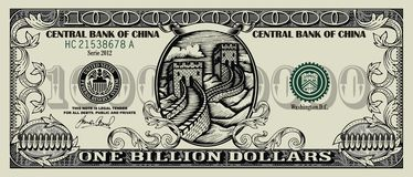 China dollar Royalty Free Stock Photos