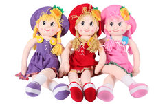 China Dolls. Shot of three vintage dolls on white Stock Photo