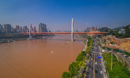 China downtown city skyline over the Yangtze River Stock Photo