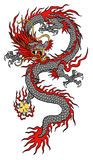 China-Dracheillustration Stockfotos