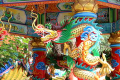 China dragon art color Royalty Free Stock Images