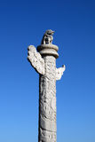 China Dragon Column. And clear sky Stock Image