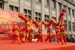 China dragon dances Stock Photos