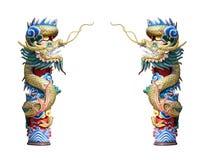 China Dragon Isolate, templo chino en Tailandia Imágenes de archivo libres de regalías