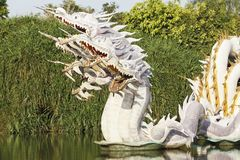 The China dragon, take photo from the Ancient City Stock Image
