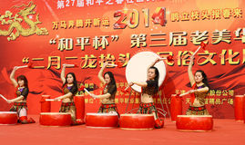 China drum dances Stock Photos