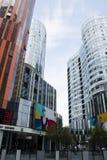 China e Ásia, Pequim, SOHO de Sanlitun, construções modernas, distrito comercial Imagens de Stock Royalty Free