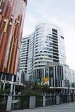 China e Ásia, Pequim, SOHO de Sanlitun, construções modernas, distrito comercial Foto de Stock Royalty Free
