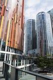 China e Ásia, Pequim, SOHO de Sanlitun, construções modernas, distrito comercial Imagem de Stock Royalty Free