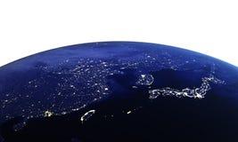 China e Japão no branco Imagens de Stock Royalty Free