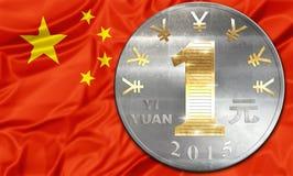 China e Yuan Imagens de Stock