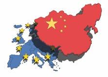 China eclipsa Europa Stock de ilustración