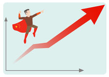 China economics rising. This is an illustration of china economics rising Stock Photography