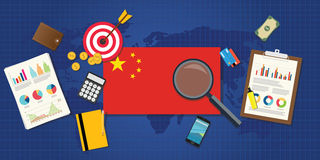 China economy economic rising. With good chart and graph and good target Royalty Free Stock Photography