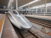 China-Eisenbahn, Hochgeschwindigkeitsschiene Stockfotos