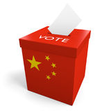 China election ballot box for collecting votes. Rendered in 3D on a white background Royalty Free Stock Photos