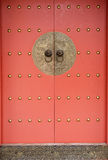China Element - Red China Door Royalty Free Stock Images