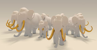 China elephants Royalty Free Stock Image