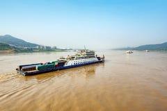 China en het Yangtze-Riviervrachtschip stock fotografie